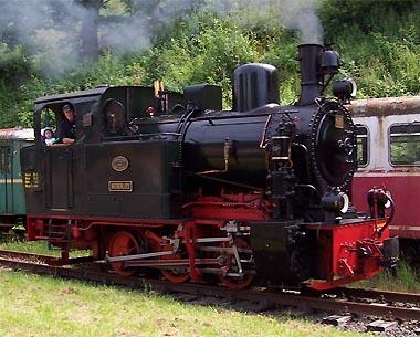Die Bieberlies - erhaltene Lokomotive der ehemaligen Biebertalbahn