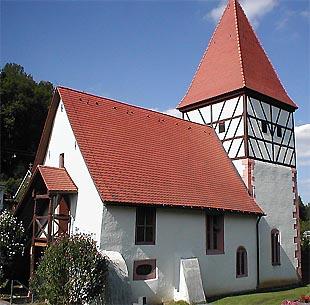St.-Mauritius-Kirche im Stadtteil Hemsbach