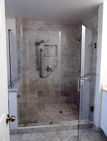 Walk-In Shower In Master Bath