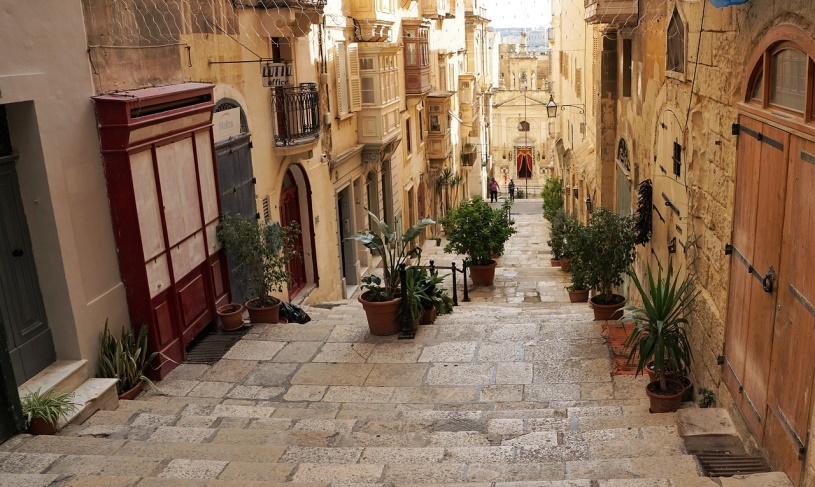 Gasse in Valletta
